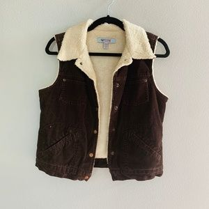 BDG Urban Outfitters Vintage Fur Lined Cord Vest